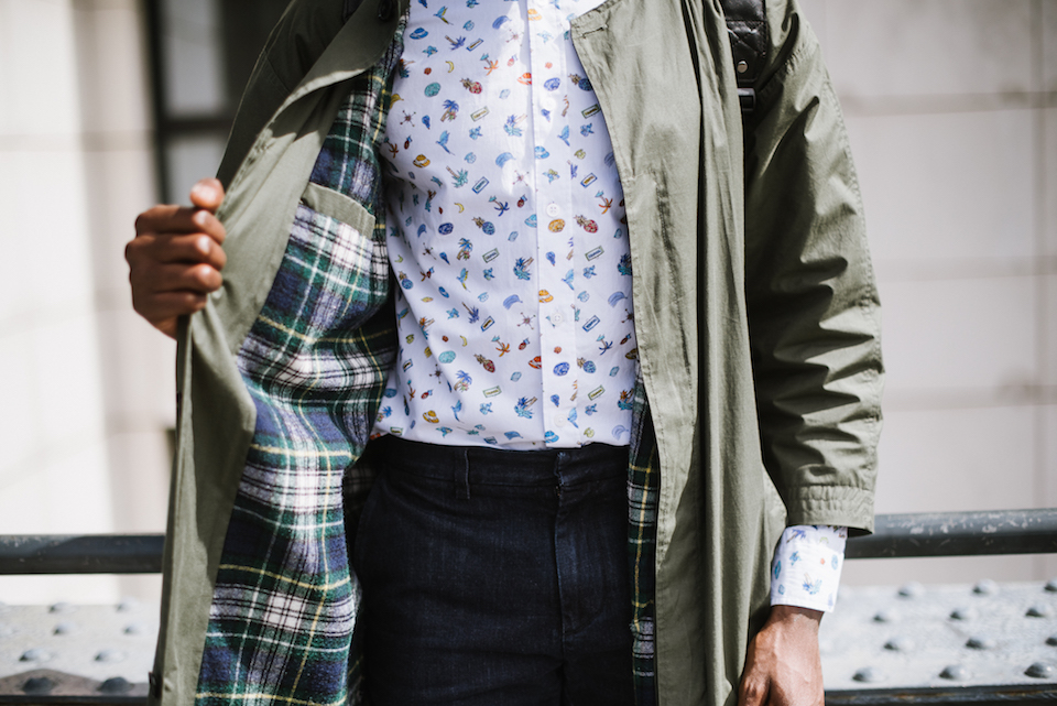 look homme imperméable chemise