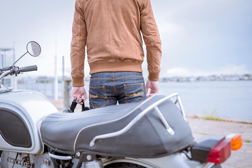 Look Bmw Plan Dos Pantalon Derriere Moto