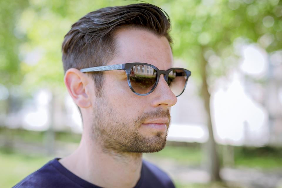 lunettes rezin kobe azur porte face