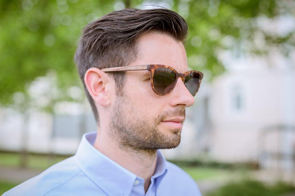 lunettes rezin kobe havana porte profil