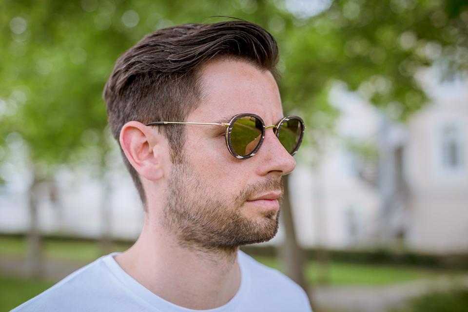 lunettes rezin lloyd bouleau noir porte profil