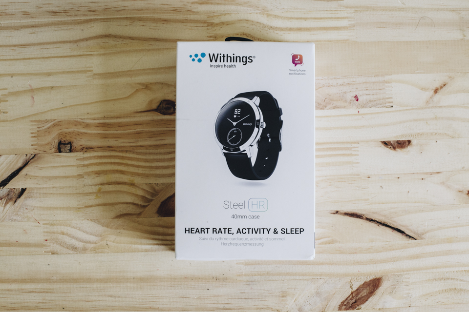 montre withings boite