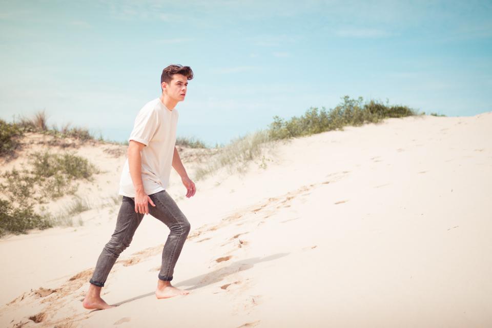 Homme type de peau desert dune