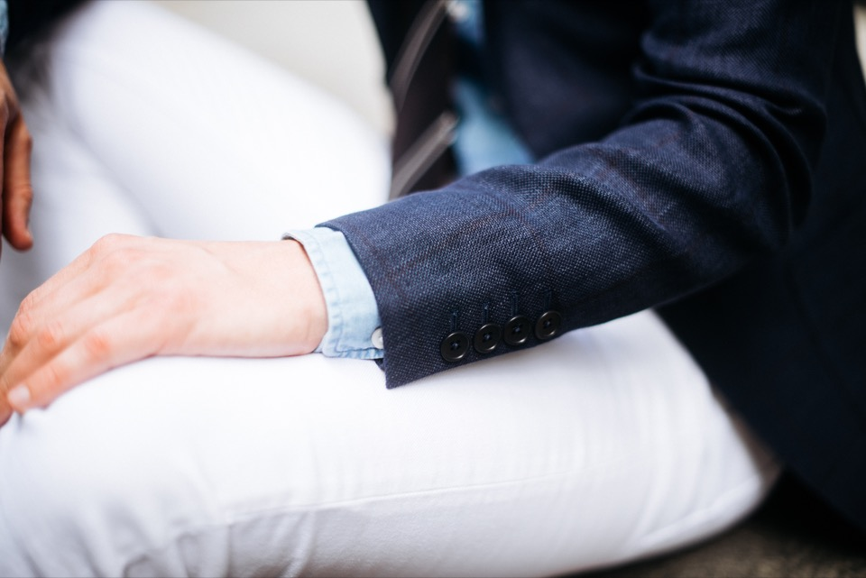 Sprezzatura Jeans blanc Acne Studios