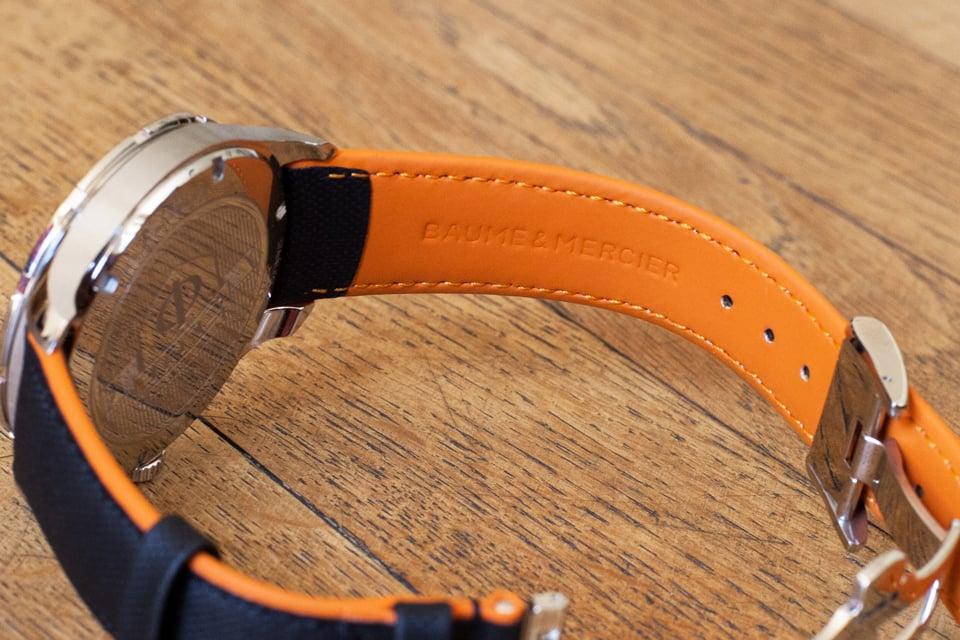 bracelet montre orange
