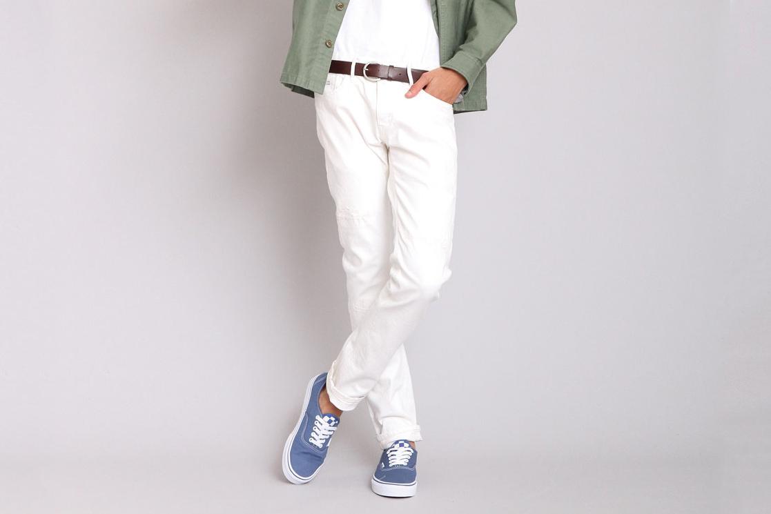 jeans blanc tendance dandy deluxe jp