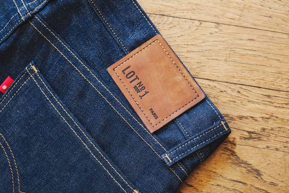 levis lot no1 patch cuir