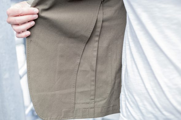 manufacture costume veste portee interieur close