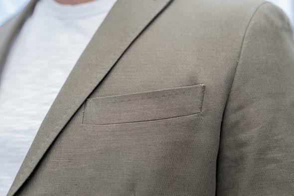 manufacture costume veste portee poche poitrine