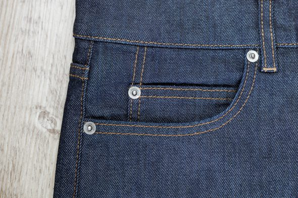 manufacture jeans coin pocket