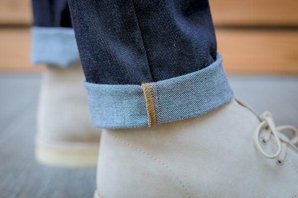 manufacture jeans porte revers