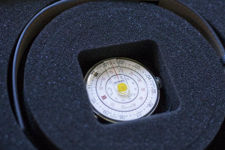 montre klokers cadran circulaire