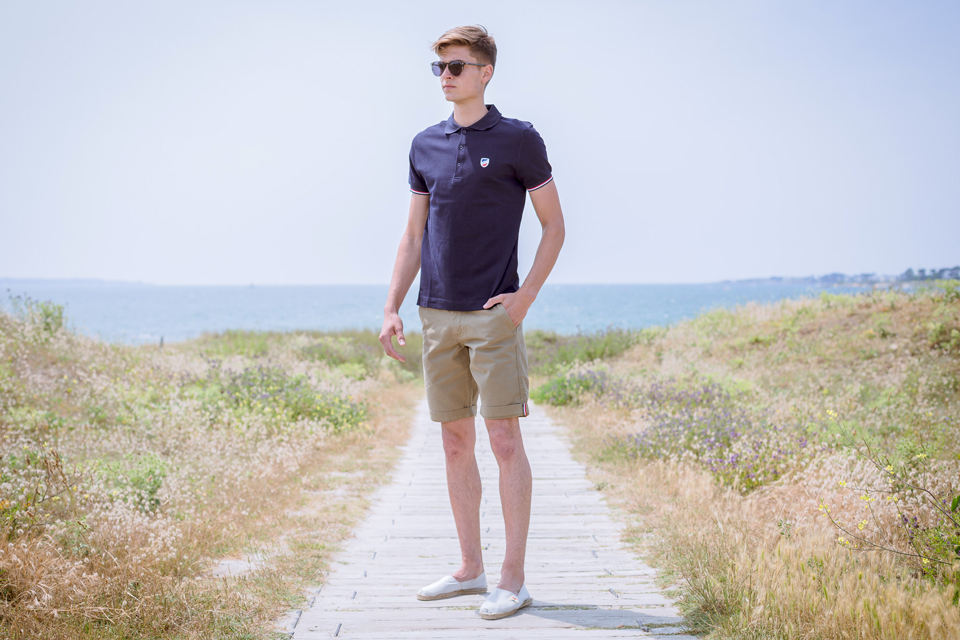 Polo marine ecusson tenue 1789 Cala