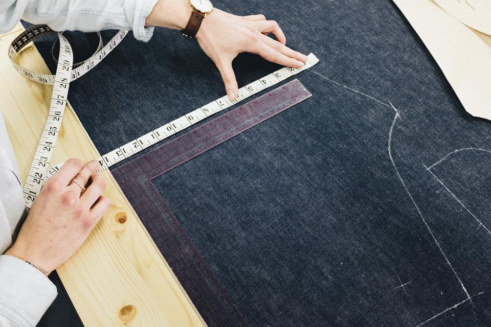 prise mesure decoupe jeans levis lot no1