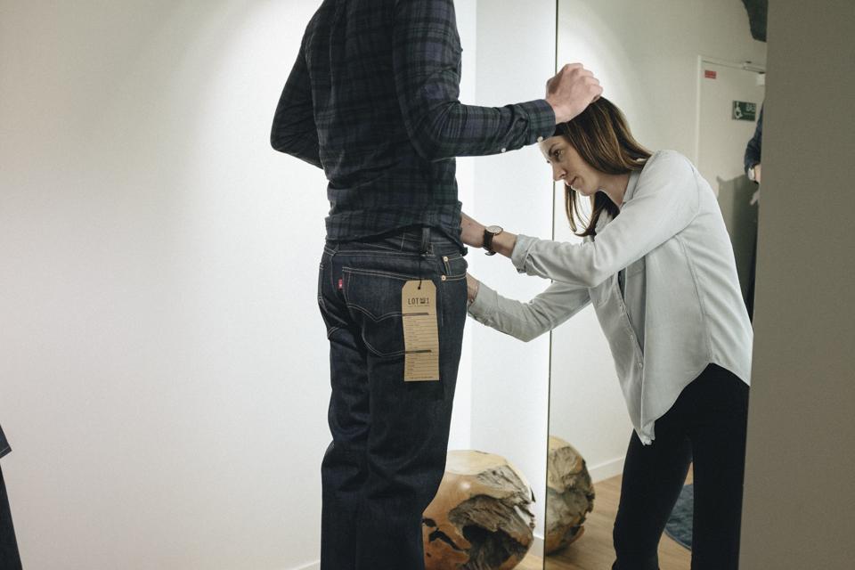 prise mesure jeans levis lot no1