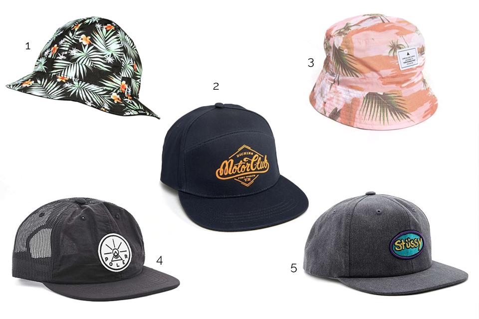 chapeaux casquettes tendance surf