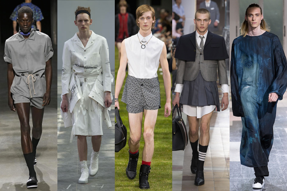 fashion week paris homme ss18 tendance androgynes