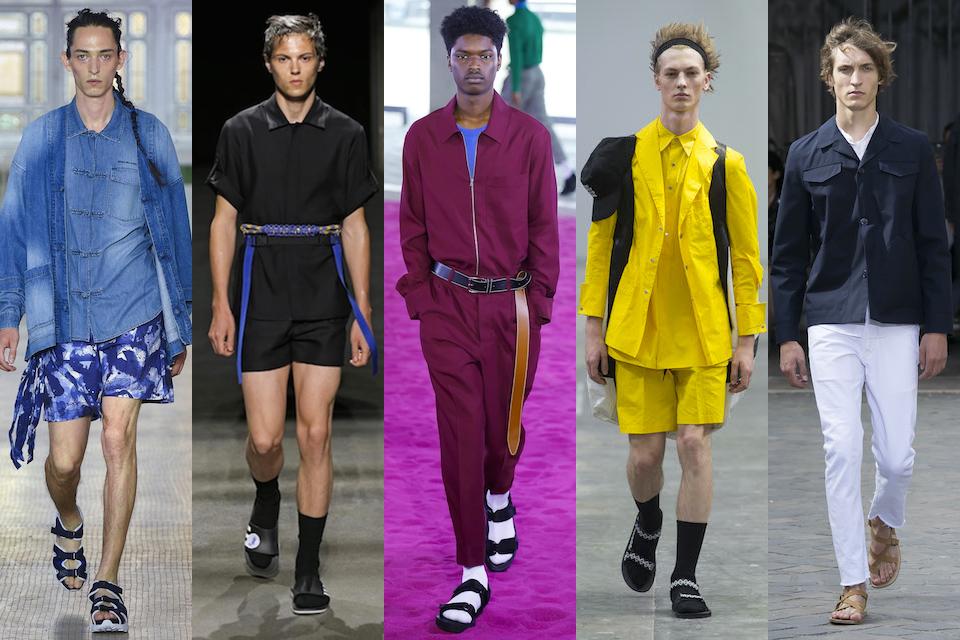 fashion week paris homme ss18 tendance claquettes chaussettes sandales