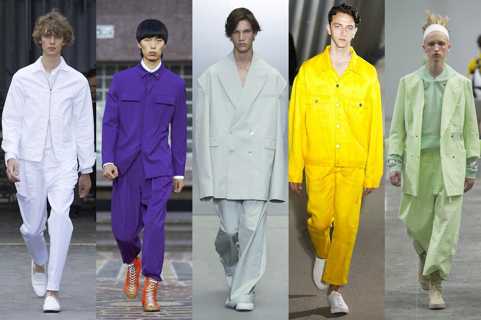 fashion week paris homme ss18 tendance monochrome