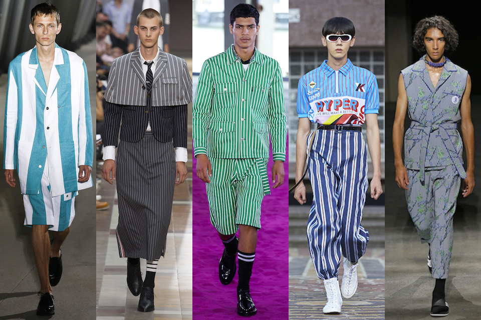 fashion week paris homme ss18 tendance rayures