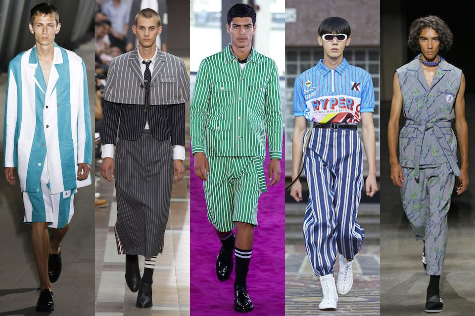 fashion week paris homme ss18 tendance rayures
