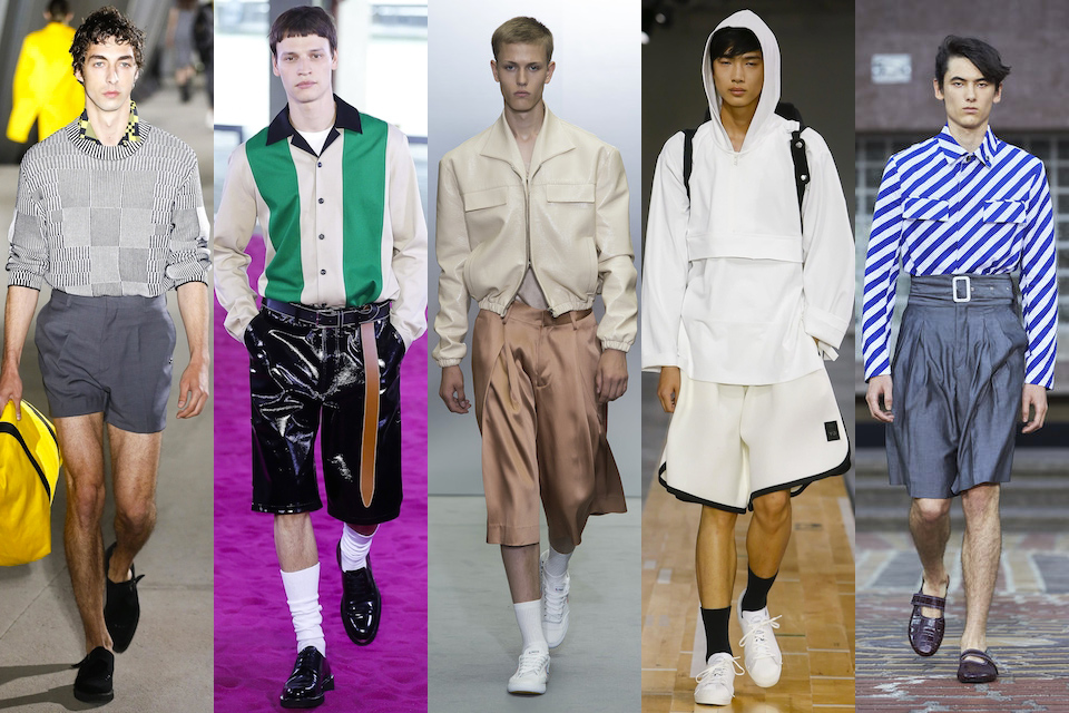 fashion week paris homme ss18 tendance short