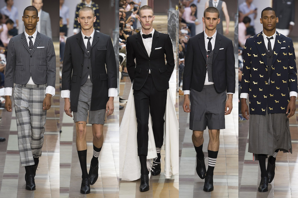 fashion week paris homme ss18 thom browne