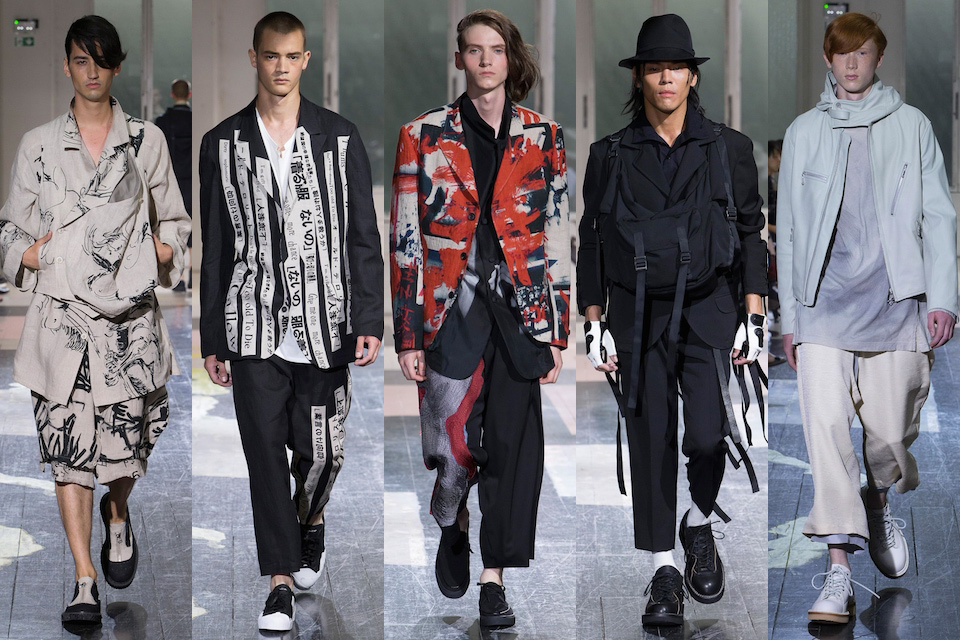 fashion week paris homme ss18 yohji yamamoto