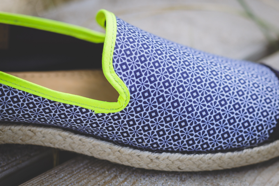 finitions espadrilles angarde