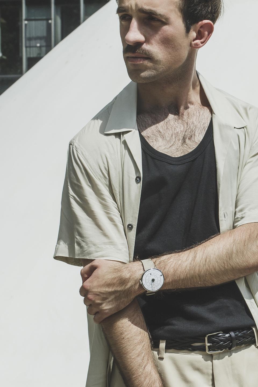 montre klokers ceinture tressee noire atelier particulier accessoires homme