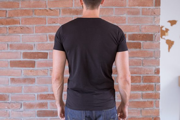 Le Basiq Tshirt Noir Porte Noir