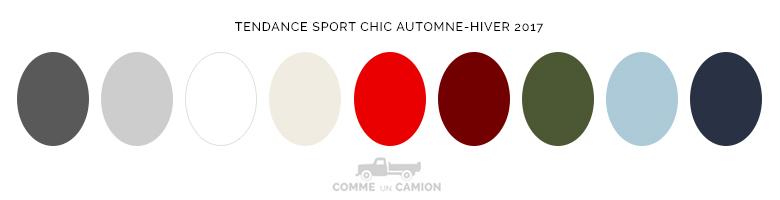 couleurs tendance sport chic automne-hvier 2017