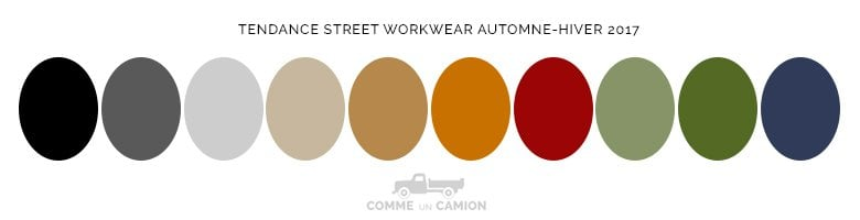 couleurs tendance street workwear homme 2017