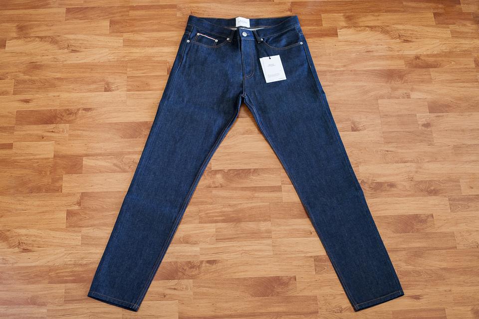 jeans maison standards selvedge test