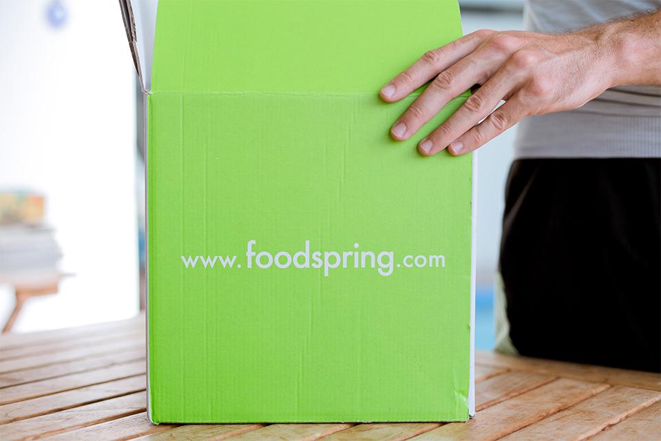 ouverture colis foodspring