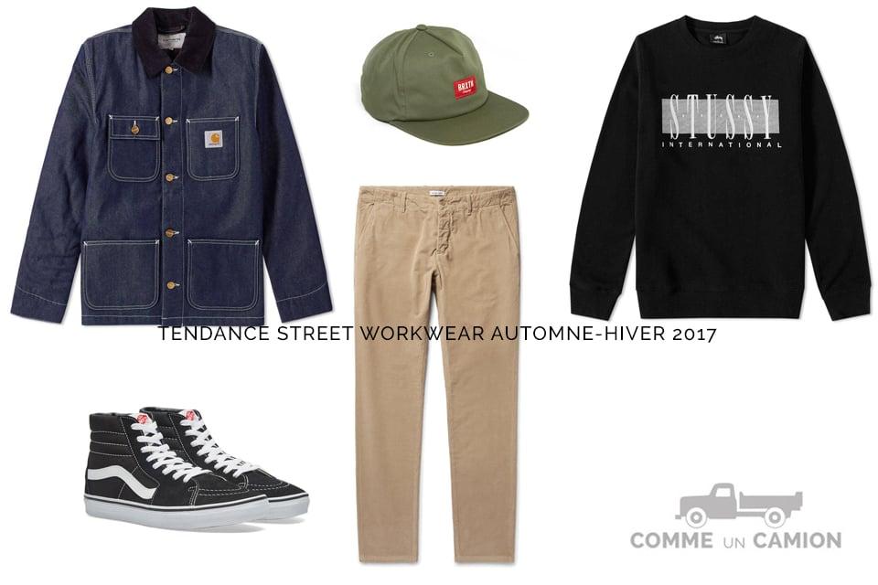 tendance street workwear homme 2017