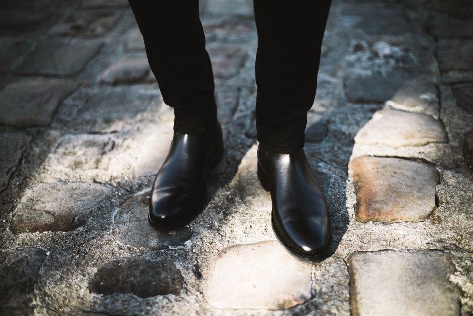 Chaussures Chelsea Boots Loding cuir noir
