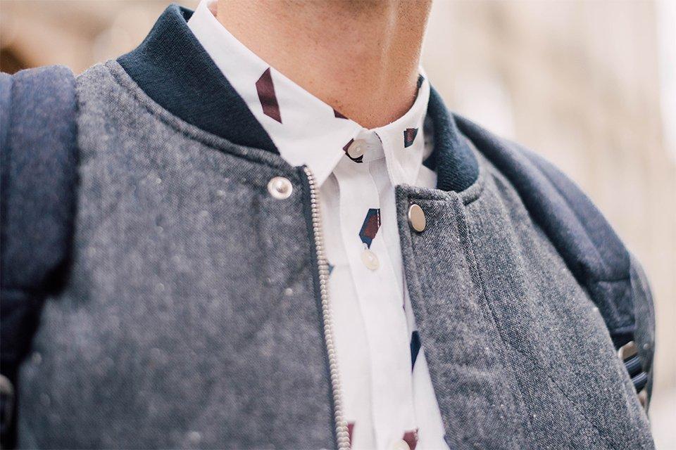 chemise a motif automne