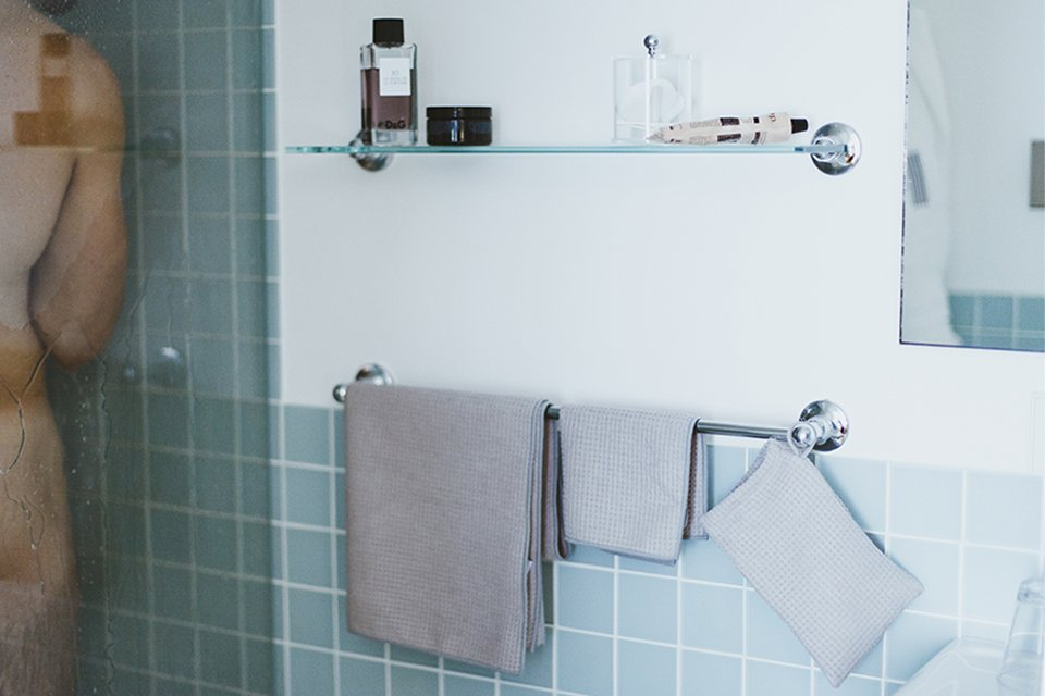 gamme serviettes bain blue bubble
