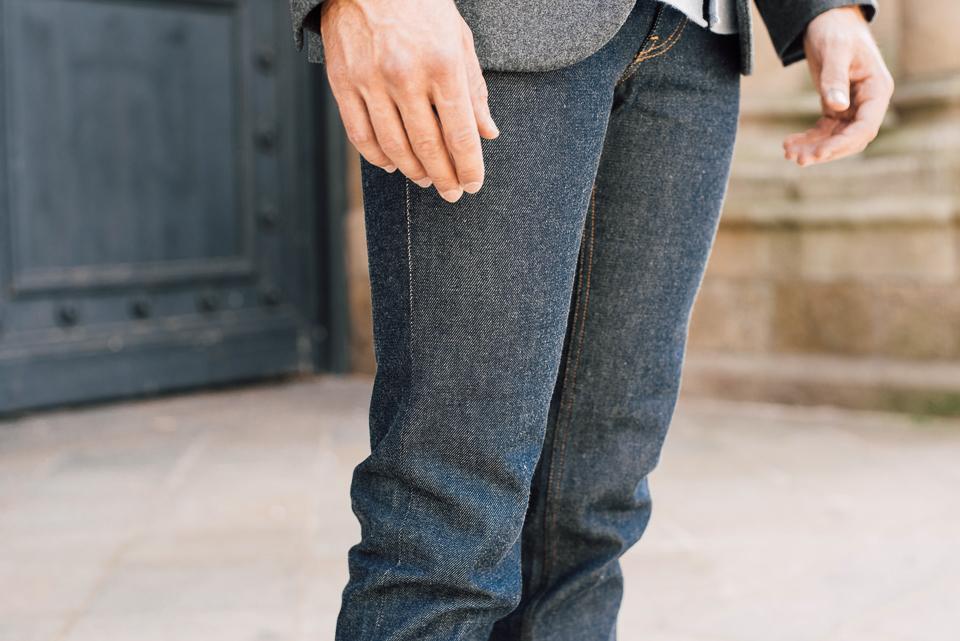 jeans brut tissu italien harmony