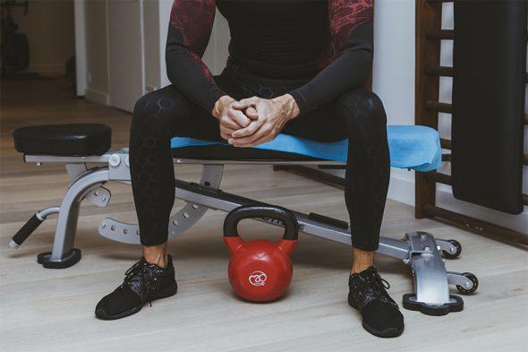 serviette bodynamic banc de musculation assis