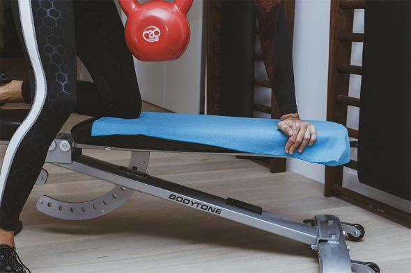 serviette bodynamic banc de musculation effort
