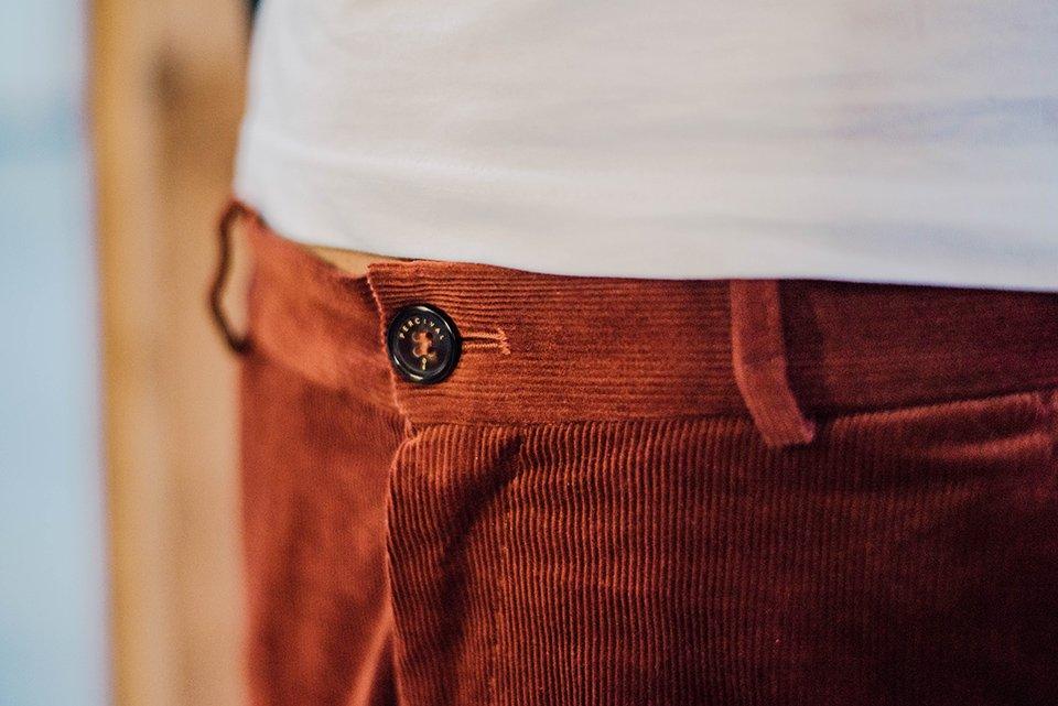 Percival Pantalon Velours Bouton
