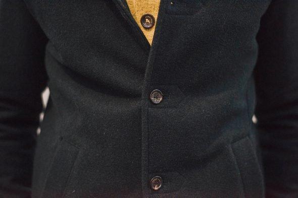 Percival Pea Coat Bouton
