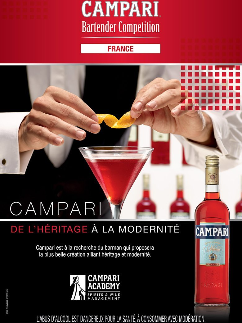 VISUEL Campari Barman Competition France