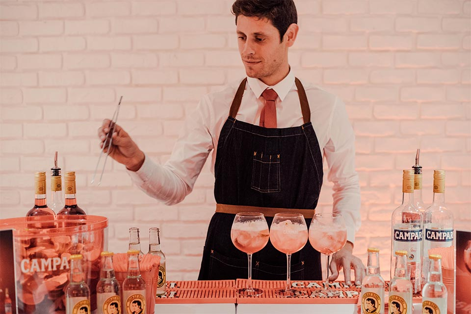 barman soiree campari bartender competition