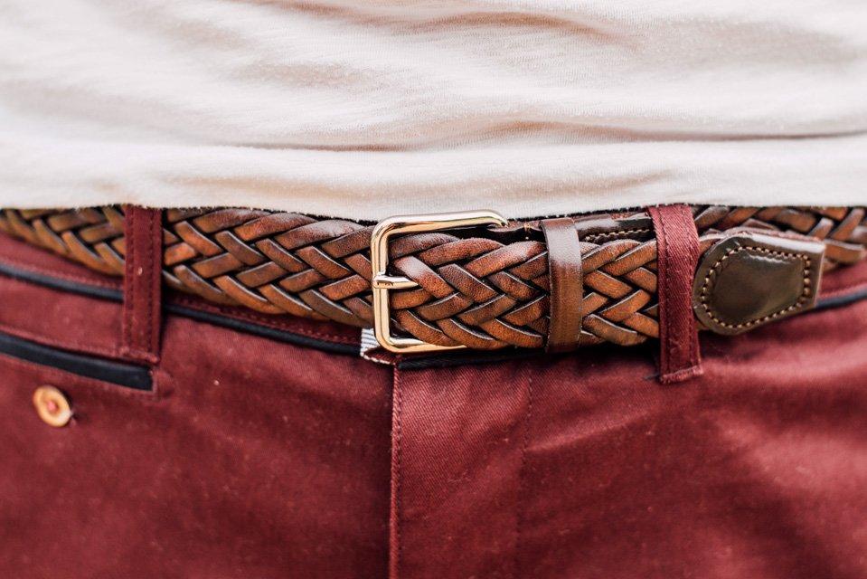ceinture tressee cuir atelier particulier