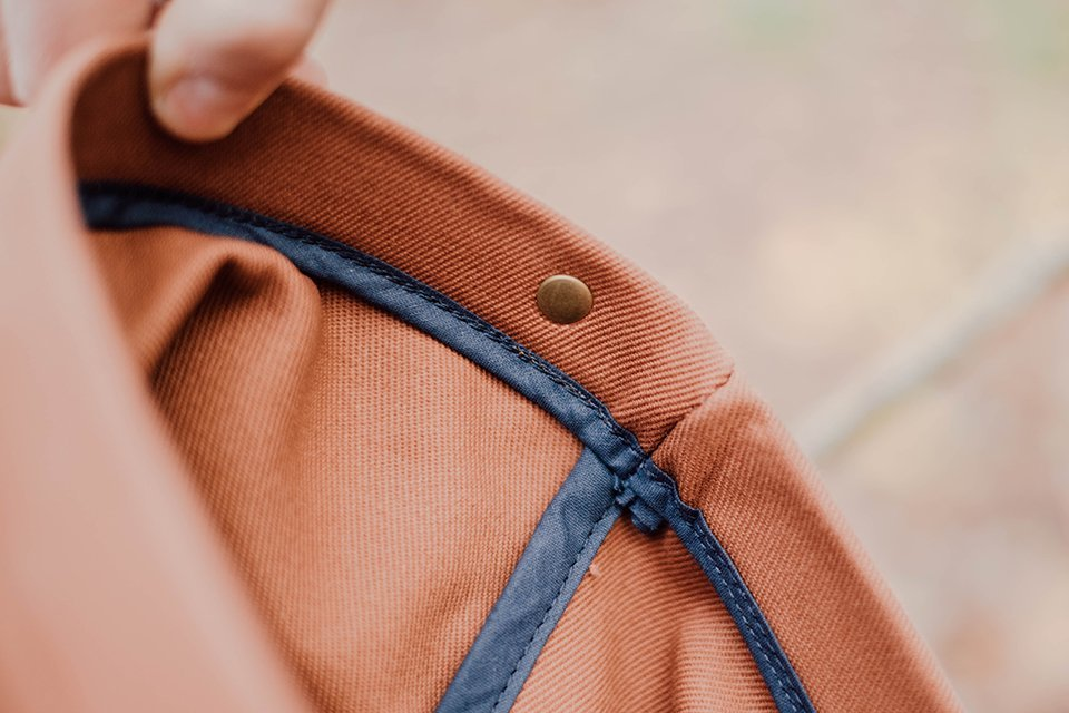 coutures sac bleu chauffe