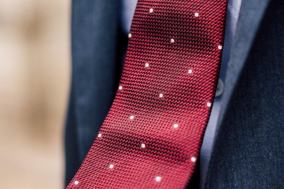 cravate grrenadine de soie pois atelier particulier