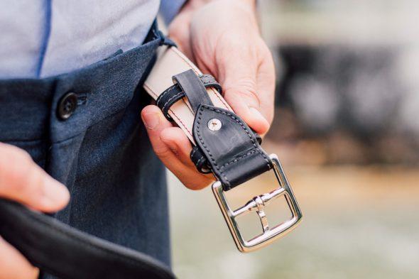 detail ceinture cuir atelier particulier